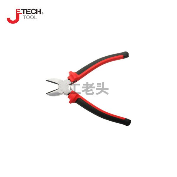 捷科(jetech) 双色柄铬钒钢斜嘴钳6寸;DP-5D