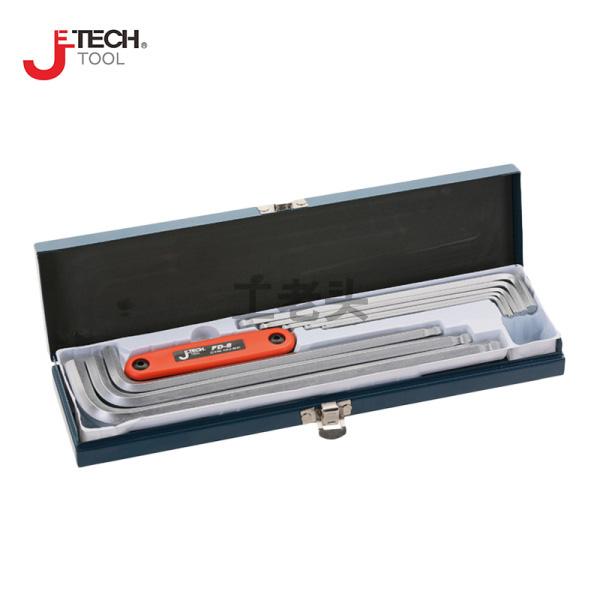 捷科(jetech) 球头特长镀铬12件铁盒装内六角扳手;BLS-12