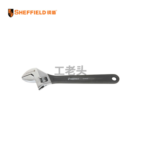 钢盾(SHEFFIELD) 沾塑柄活动扳手15寸;S016608