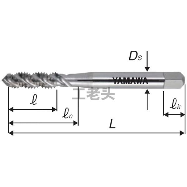 YAMAWA弥满和,螺旋槽丝锥SU2-SP-M5x0.8P2